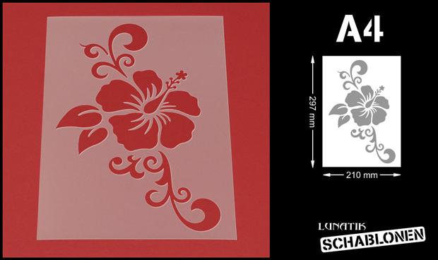 schablone wandschablone blume hibiskus ranke mf52 ebay. Black Bedroom Furniture Sets. Home Design Ideas
