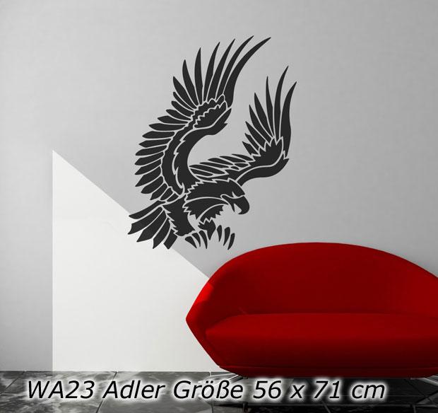 Selbstklebende Tapete Auf Rechnung : Details zu Wandtattoo Wandaufkleber Adler – WA23