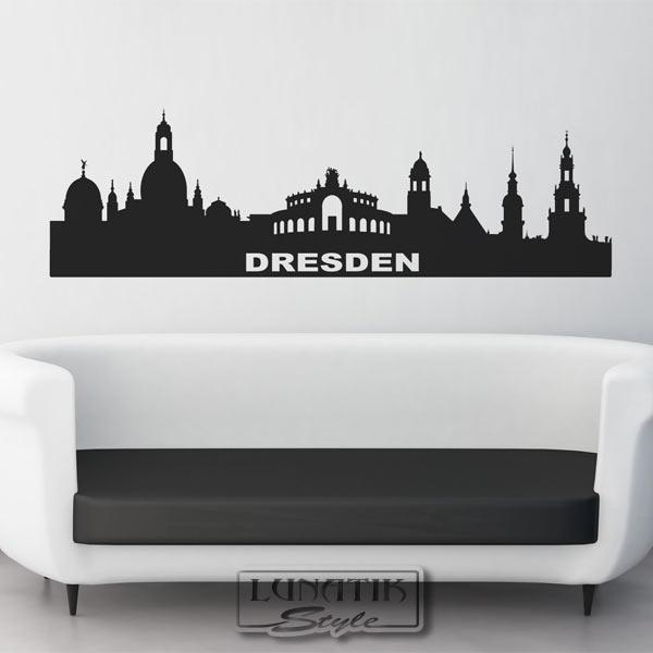 wandtattoo wandaufkleber skyline stadt dresden wt01 ebay. Black Bedroom Furniture Sets. Home Design Ideas
