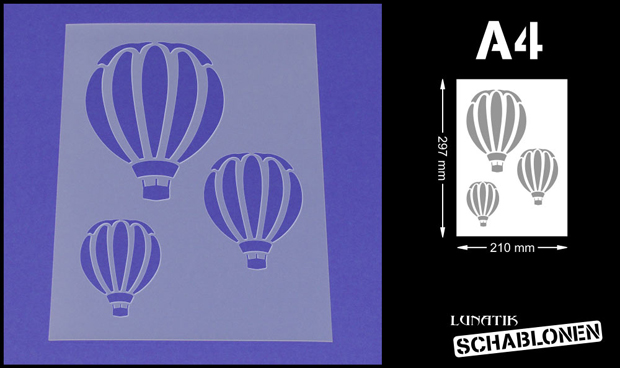 Details Zu Schablone Wandschablone Ballon Heißluftballon Ballonfahrt Me04